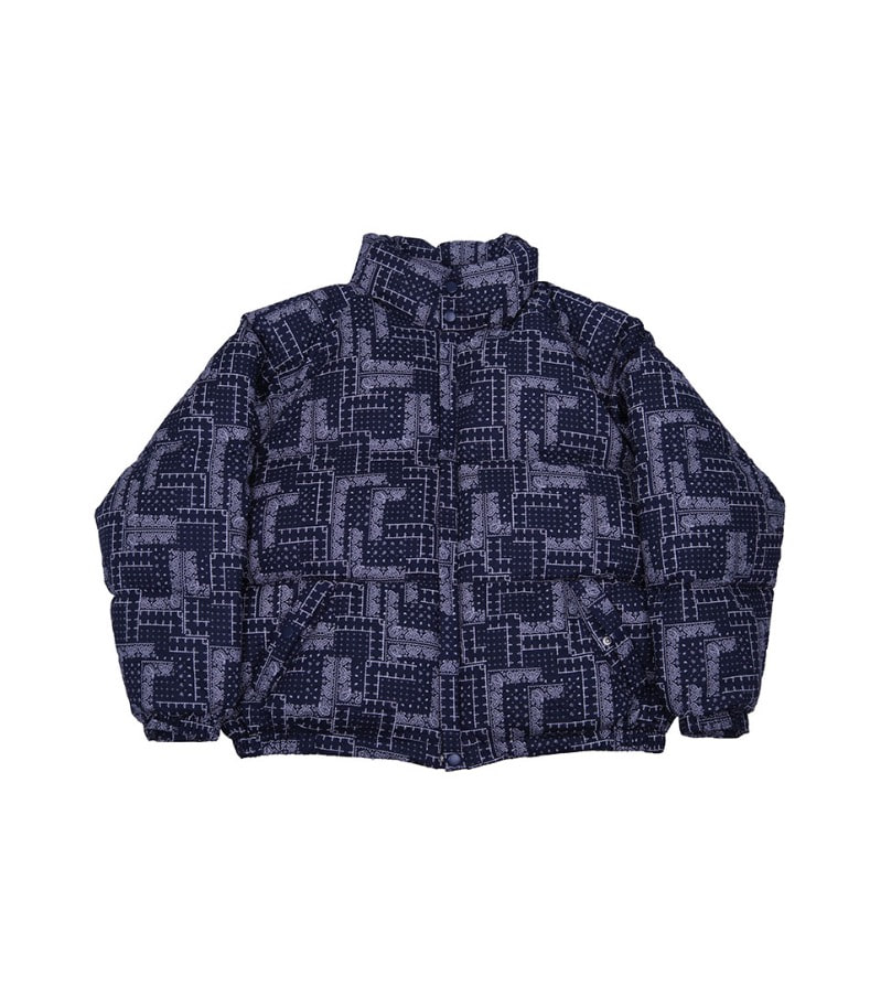 CHANCECHANCE DOWN PARKA(PAISLEY NAVY)